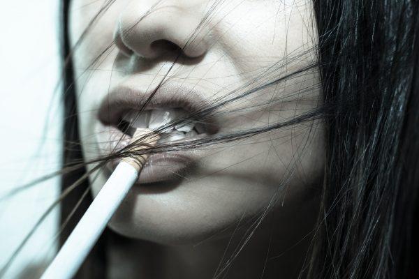 kouření pleť
